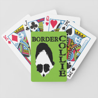 Border Collie Deep Thoughts Bicycle Playing Cards