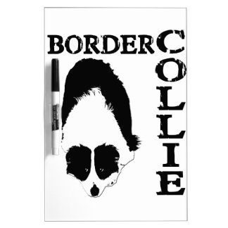 Border Collie Deep Thoughts Dry Erase Board