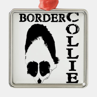 Border Collie Deep Thoughts Metal Ornament