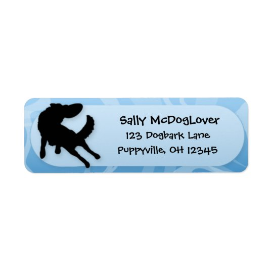 Border Collie Disc Dog Return Address Label