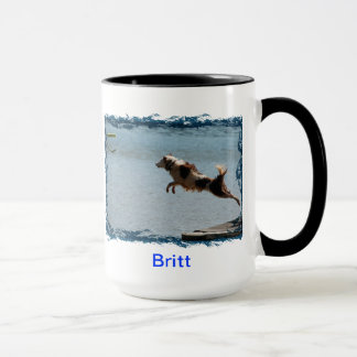 Border Collie Dock Diving Mug