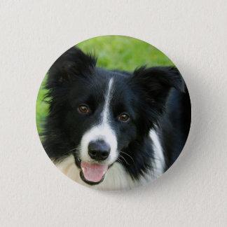 Border Collie Dog Add Text Pet 2 Inch Round Button