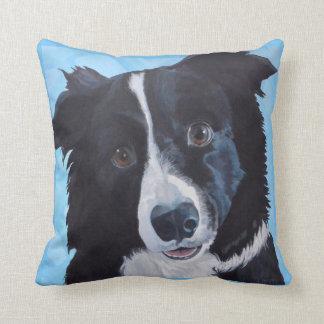 Border Collie Dog Art Pillow
