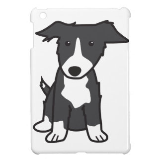 Border Collie Dog Cartoon iPad Mini Cover