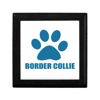 BORDER COLLIE DOG DESIGNS GIFT BOX