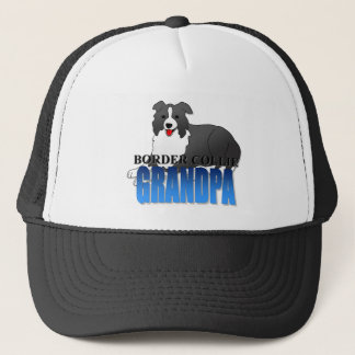 Border Collie Dog Grandpa Trucker Hat