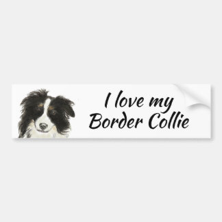 Border Collie Dog Love my Quote Bumper Sticker