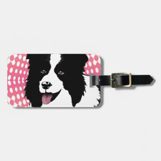 Border Collie Dog Pop Art Pet  Customize Luggage Tag