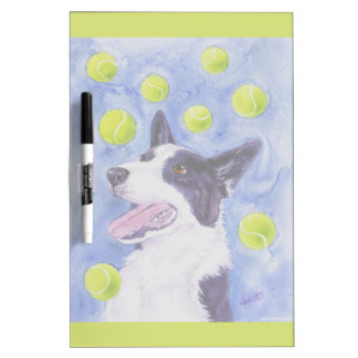 "Border Collie Dry-Erase Board - ""Magpie's Gold"""