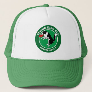 Border Collie Flying Disc Dog Trucker Hat