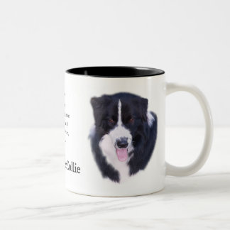 Border Collie Gifts Two-Tone Coffee Mug
