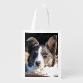 BORDER COLLIE GROCERY BAGS