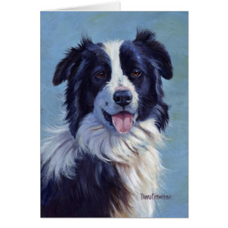 Border Collie Head Card