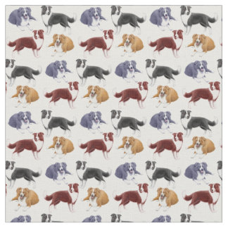 Border Collie Herding Dogs Fabric