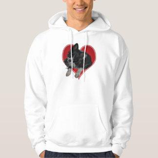 Border Collie in Valentine Heart shirts