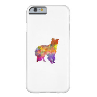 Border collie in watercolor barely there iPhone 6 case