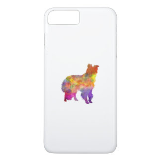 Border collie in watercolor iPhone 8 plus/7 plus case
