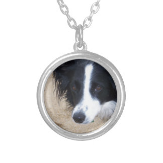 Border Collie items Silver Plated Necklace