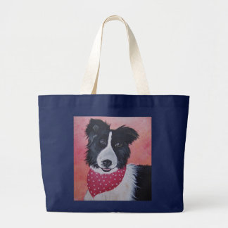 Border Collie Large Tote Bag