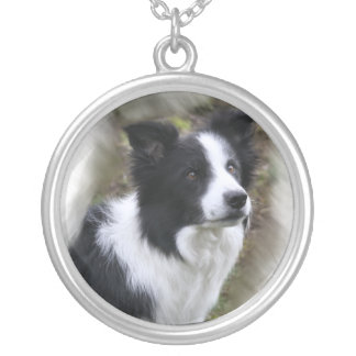 Border Collie Lovers Gifts Silver Plated Necklace
