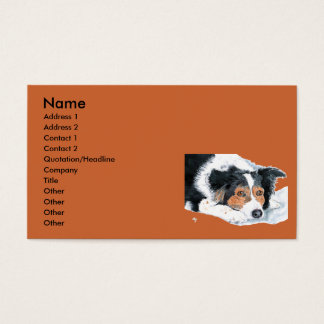 Border Collie Mattie Business Cards