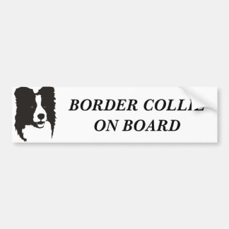 Border Collie On Board Bumper Sticker