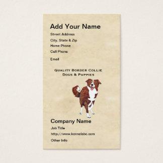 Border Collie on Parchment Business Card
