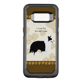 Border Collie on Tan Leaves OtterBox Commuter Samsung Galaxy S8 Case