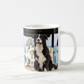 Border Collie ON the beach Coffee Mug