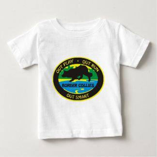 border collie out play baby T-Shirt