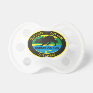 border collie out play pacifier