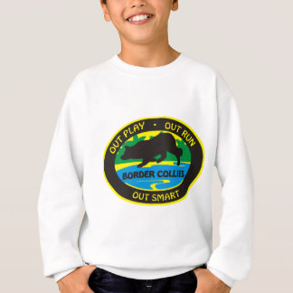 border collie out play sweatshirt