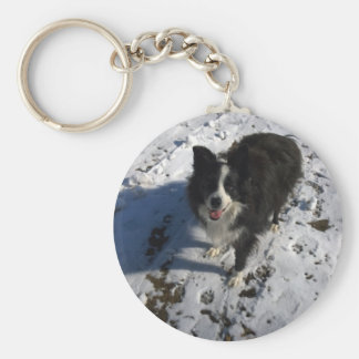 Border Collie photo on products Keychain