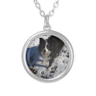 Border Collie photo on products Silver Plated Necklace