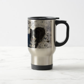 Border Collie photo on products Travel Mug