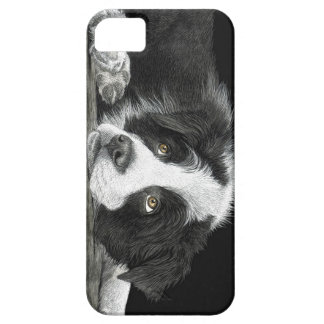 """Border Collie Pup - """"Tell Me More About 'Sheep'"""" iPhone 5 Cover"""
