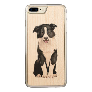 Border Collie Puppy Carved iPhone 8 Plus/7 Plus Case