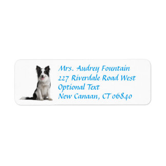 Border Collie Puppy Dog Return Address Label