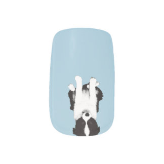 Border Collie Puppy Minx Nail Art