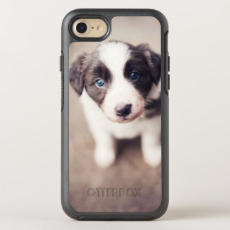 Border Collie Puppy With Blue Eyes OtterBox Symmetry iPhone 8/7 Case
