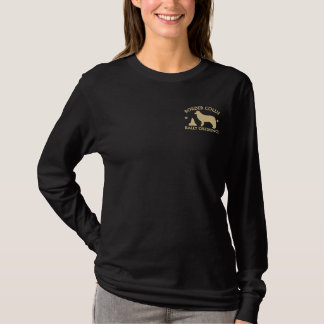 Border Collie Rally Obedience Embroidered Long Sleeve T-Shirt