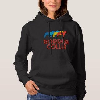 Border Collie Retro Pop Art Hoodie