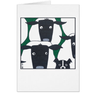 Border Collie & Sheep Blank Card