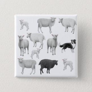 Border Collie & Sheep Pin