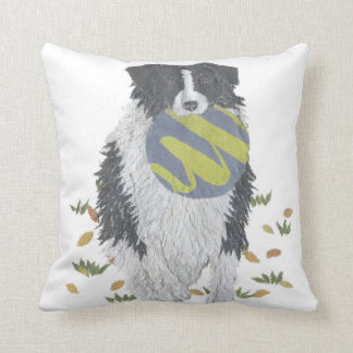 Border Collie, Sheepdog Throw Pillow