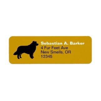 Border Collie Silhouette Return Address Label
