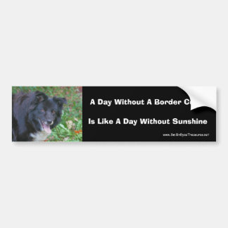 Border Collie Smiling Cute Dog Bumper Sticker