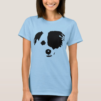 Border Collie Split Face T-Shirt