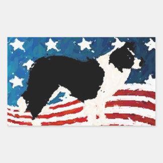 Border Collie Sticker~Memorial Day