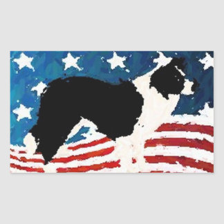 Border Collie Sticker~Memorial Day Sticker